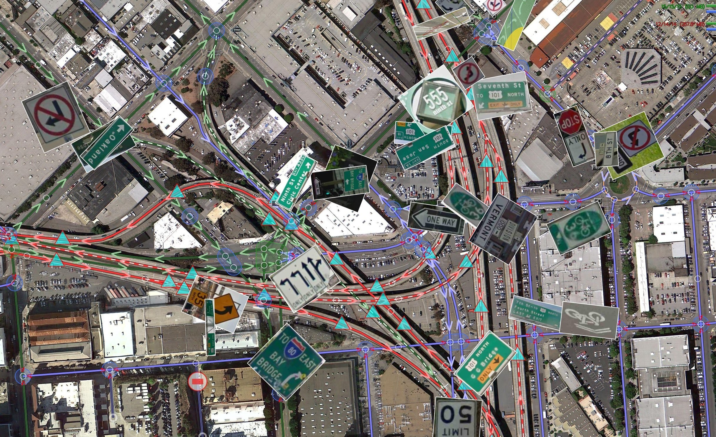 Pic 2 - Map of downtown San Francisco as created by Google Street View [2]
